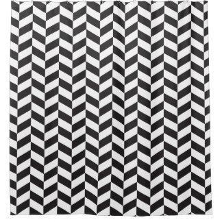 Modern Black and White Herringbone Pattern