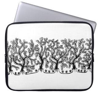 Modern Black and White Joshua Tree Neoprene Laptop Sleeves