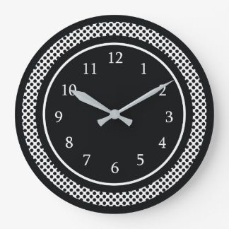Modern Black And White Large Clock