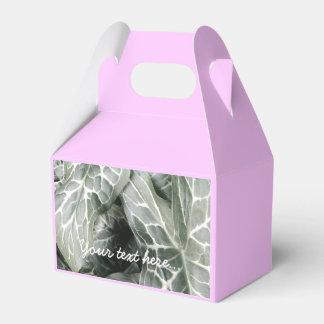 Modern Black and White Leaf Design Wedding Favor Boxes