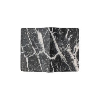 Modern Black and White Marble Pattern Passport Holder