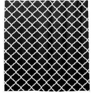 Modern Black and White Moroccan Quatrefoil Pattern