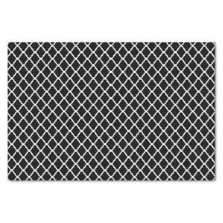 Modern Black and White Moroccan Quatrefoil Pattern Tissue Paper