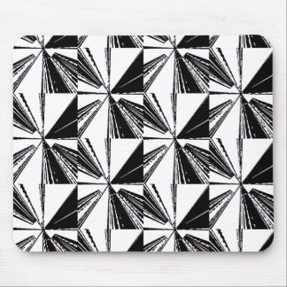 Modern Black and White Mouse Pad Houndstooth Block