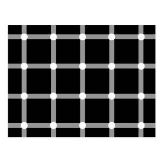 Modern Black and White Optical Illusion Postcard