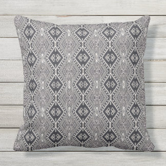 Modern Black and White Outdoor Accent Pillow Decor