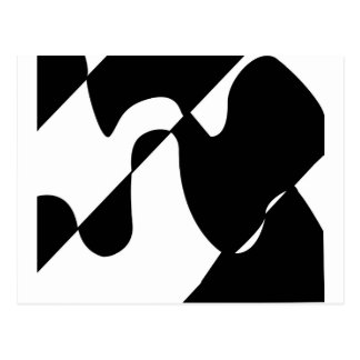 Modern Black and White Pattern Postcard