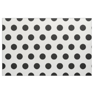 Modern Black and White Polka Dots Fabric