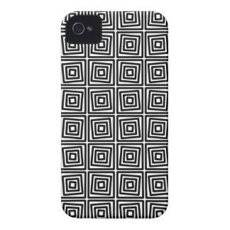 Modern Black and White squares, stripes iPhone 4 Cover