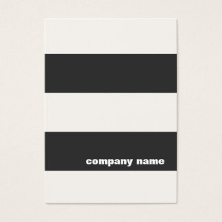 Modern Black and White Striped Business Card