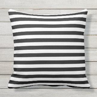 Modern Black And White Striped Pillows