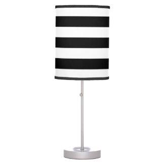 Modern Black and White Stripes Desk Lamp
