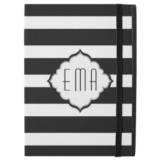 "Modern Black And White Stripes iPad Pro 12.9"" Case"