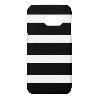 Modern Black and White Stripes Pattern Samsung Galaxy S7 Case