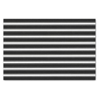 Modern Black and White Stripes Pattern Tissue Paper