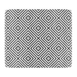 Modern Black And White Stripes Tribal Pattern Cutting Board