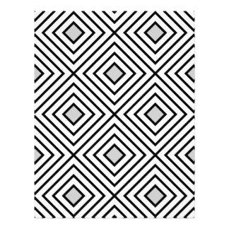 Modern Black And White Stripes Tribal Pattern Letterhead