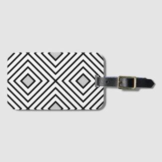 Modern Black And White Stripes Tribal Pattern Luggage Tag