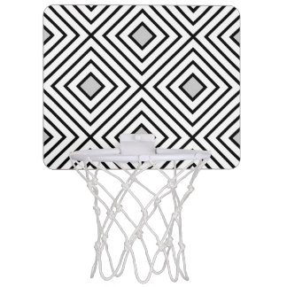 Modern Black And White Stripes Tribal Pattern Mini Basketball Hoop