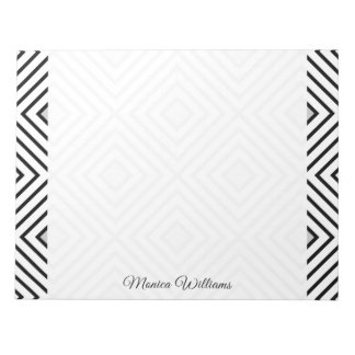 Modern Black And White Stripes Tribal Pattern Notepad