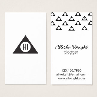 Modern Black and White Triangle Business Cards