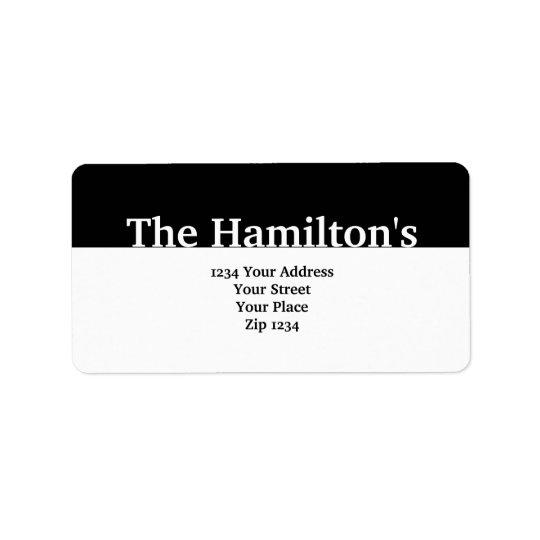 Modern Black Banner Label