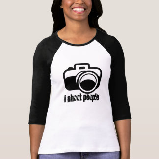 Modern Black Camera Icon Photographer T-Shirt