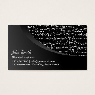 Modern Black Curve Chemical Engineer Business Card