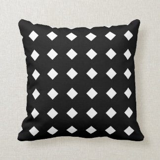 Modern Black Diamond Pattern Throw Pillow