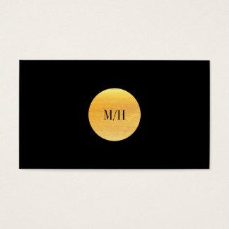 Modern Black & Gold Business Card