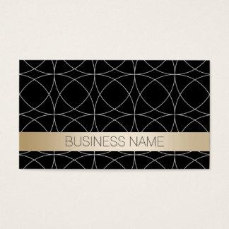 Modern Black & Gold Chiropractor Business Card