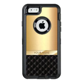 Modern Black & Gold Custom Name OtterBox iPhone 6/6s Case