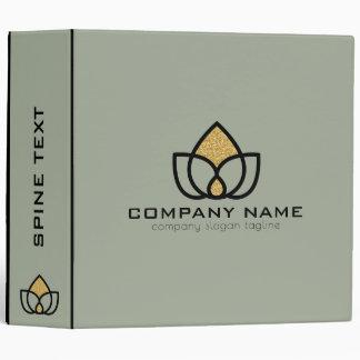 Modern Black & Gold Geometric Logo Binders