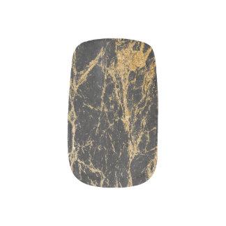 Modern Black & Gold Marble Minx Nail Art