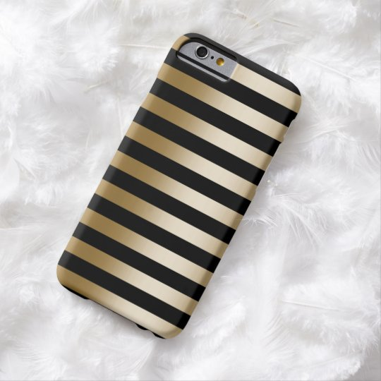 Modern Black & Gold Stripes iPhone 6 case
