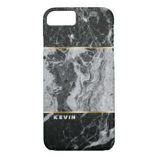 Modern Black & Gray Faux Marble Combination Case-Mate iPhone Case