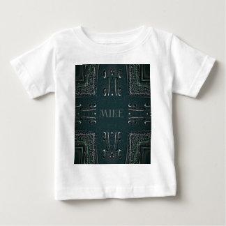 Modern Black Gray 'Mine' Goth Pattern Baby T-Shirt