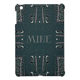 Modern Black Gray 'Mine' Goth Pattern Case For The iPad Mini