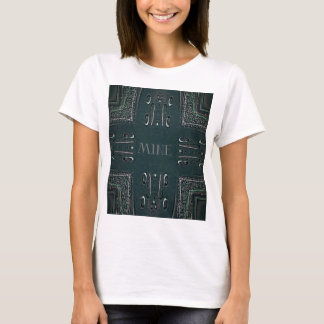 Modern Black Gray 'Mine' Goth Pattern T-Shirt