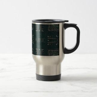 Modern Black Gray 'Mine' Goth Pattern Travel Mug