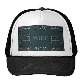 Modern Black Gray 'Mine' Goth Pattern Trucker Hat