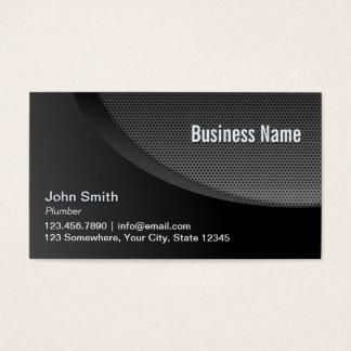 Modern Black Metal Mesh Plumbing Business Card