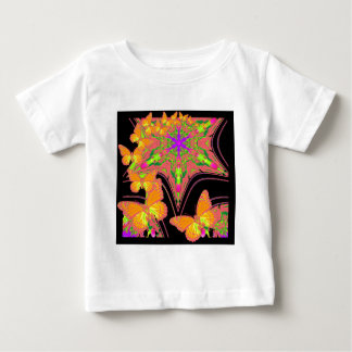 Modern Black Monarch Butterflies Art Design Baby T-Shirt