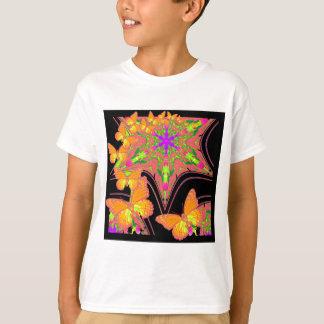 Modern Black Monarch Butterflies Art Design T-Shirt