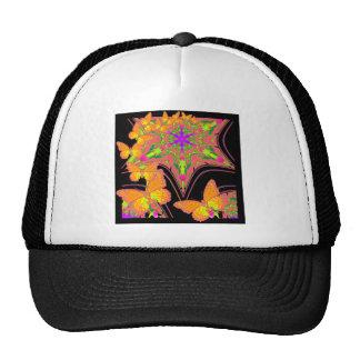 Modern Black Monarch Butterflies Art Design Trucker Hat