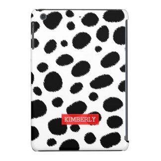Modern Black On White Leopard Spots Pattern iPad Mini Cases