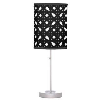 Modern Black Patterned Lamp