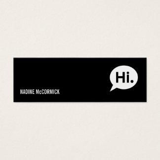 Modern Black Profile Card