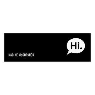 Modern Black Profile Card Pack Of Skinny Business Cards