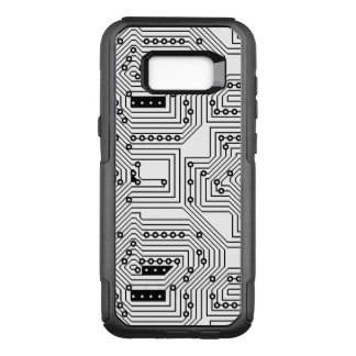 Modern Black Retro Computer Circuit Board Pattern OtterBox Commuter Samsung Galaxy S8+ Case